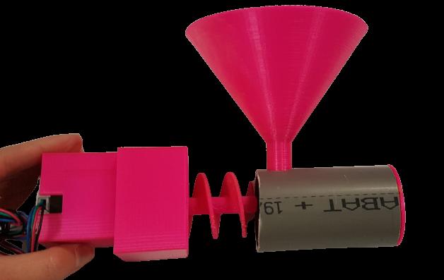3D打印:电机支架,漏斗和PVC管